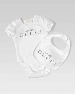0f0ccdc67 ShopStyle: Gucci My First 2-Piece Gift Set, Silver | Style is a way ...
