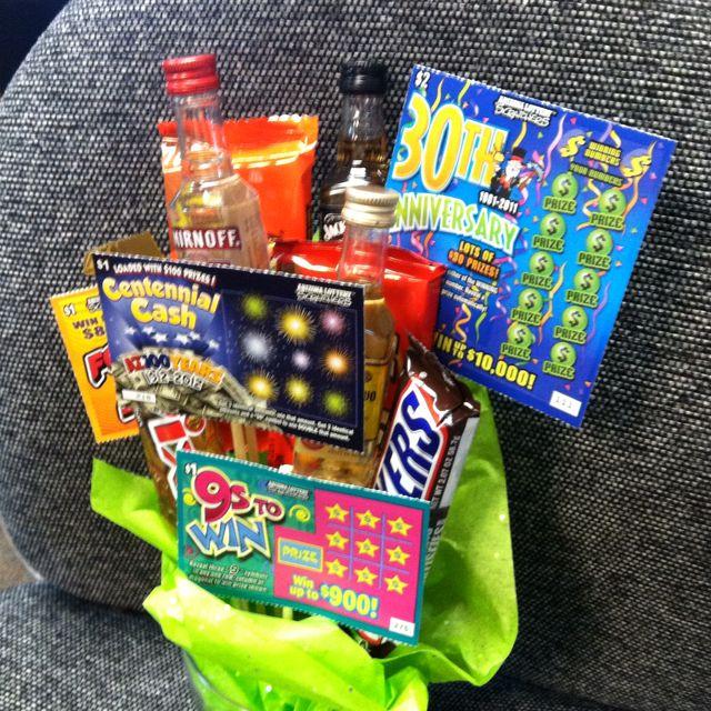 Bridal Shower Gift Basket Climbing On House Halloween: Super Bowl Game Prize