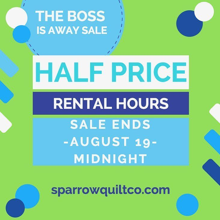 8aebb5bf88ba The-Boss-is-Away-Sale! Rental hours are 50% OFF! Only until August ...