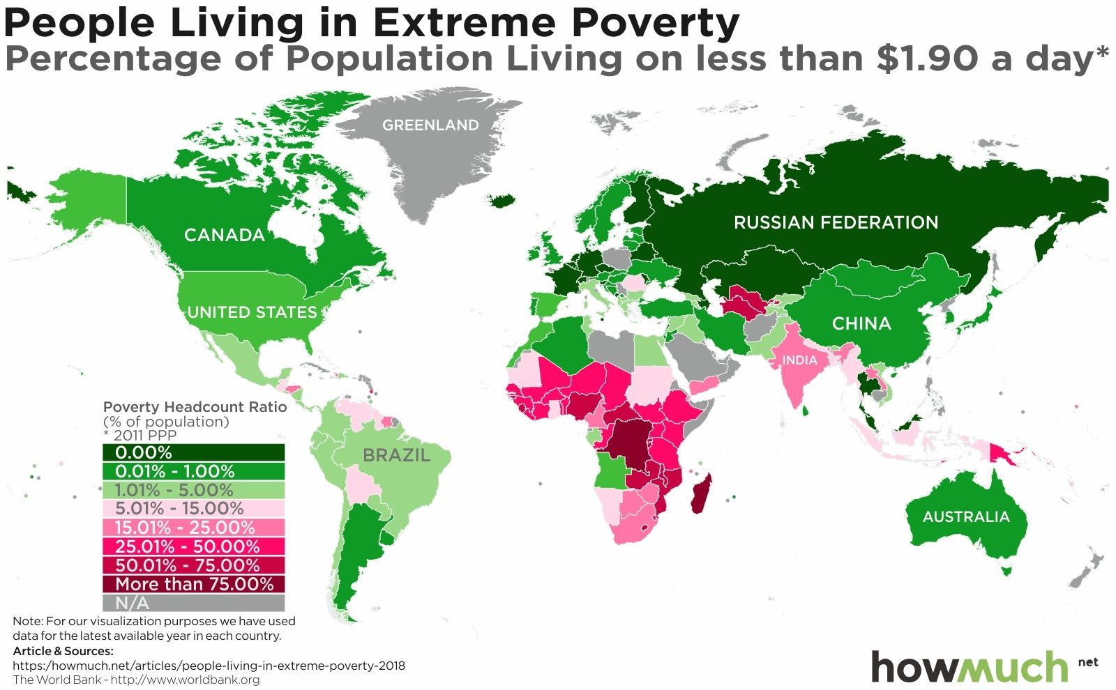 Mapping Extreme Poverty Around the World world