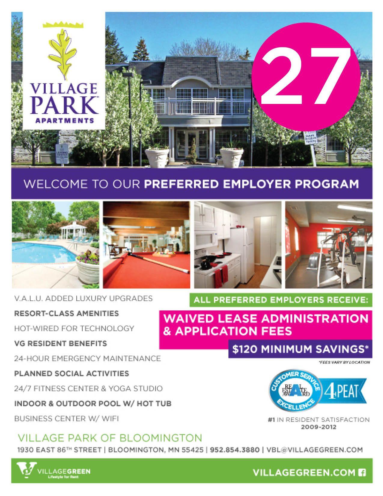 Preferred Employer Program Template Apartment Marketing