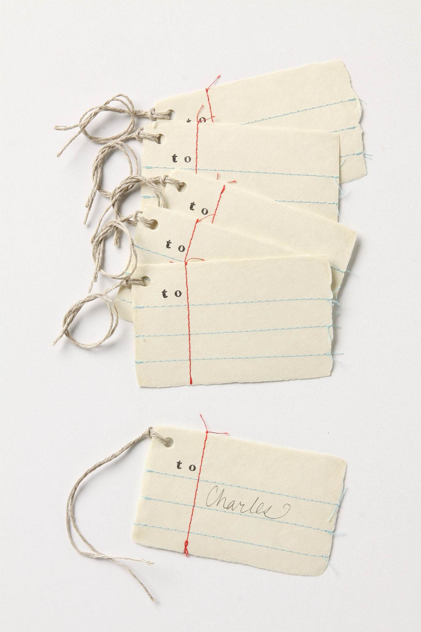 vintagey gift tags