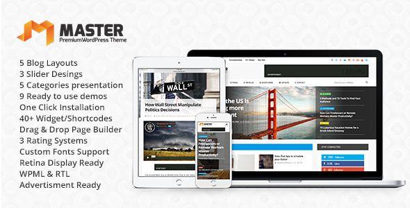 Download Free Master Premium Blog Amp Magazine Wordpress Theme Magazine Theme Wordpress Blog Themes Wordpress Wordpress Video Theme