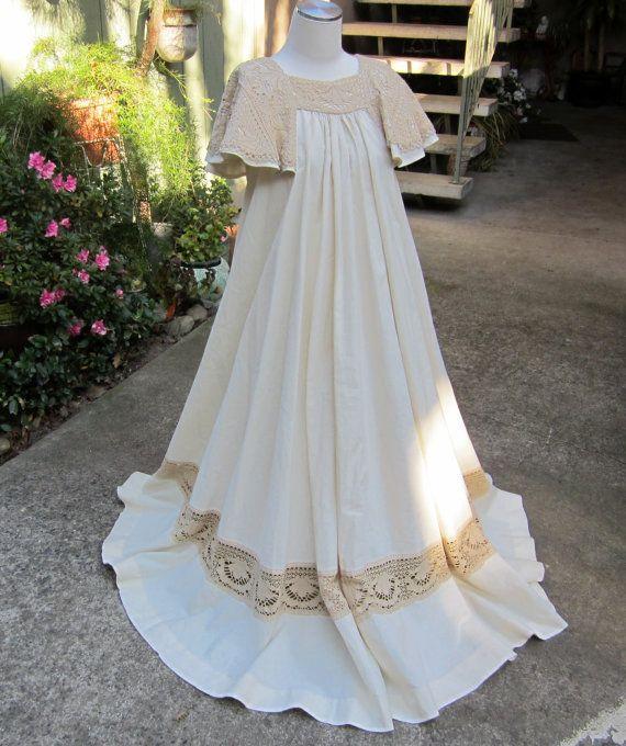 Vintage 1960s/1970s Mexican Bohemian Maxi Dress Designer Label ...