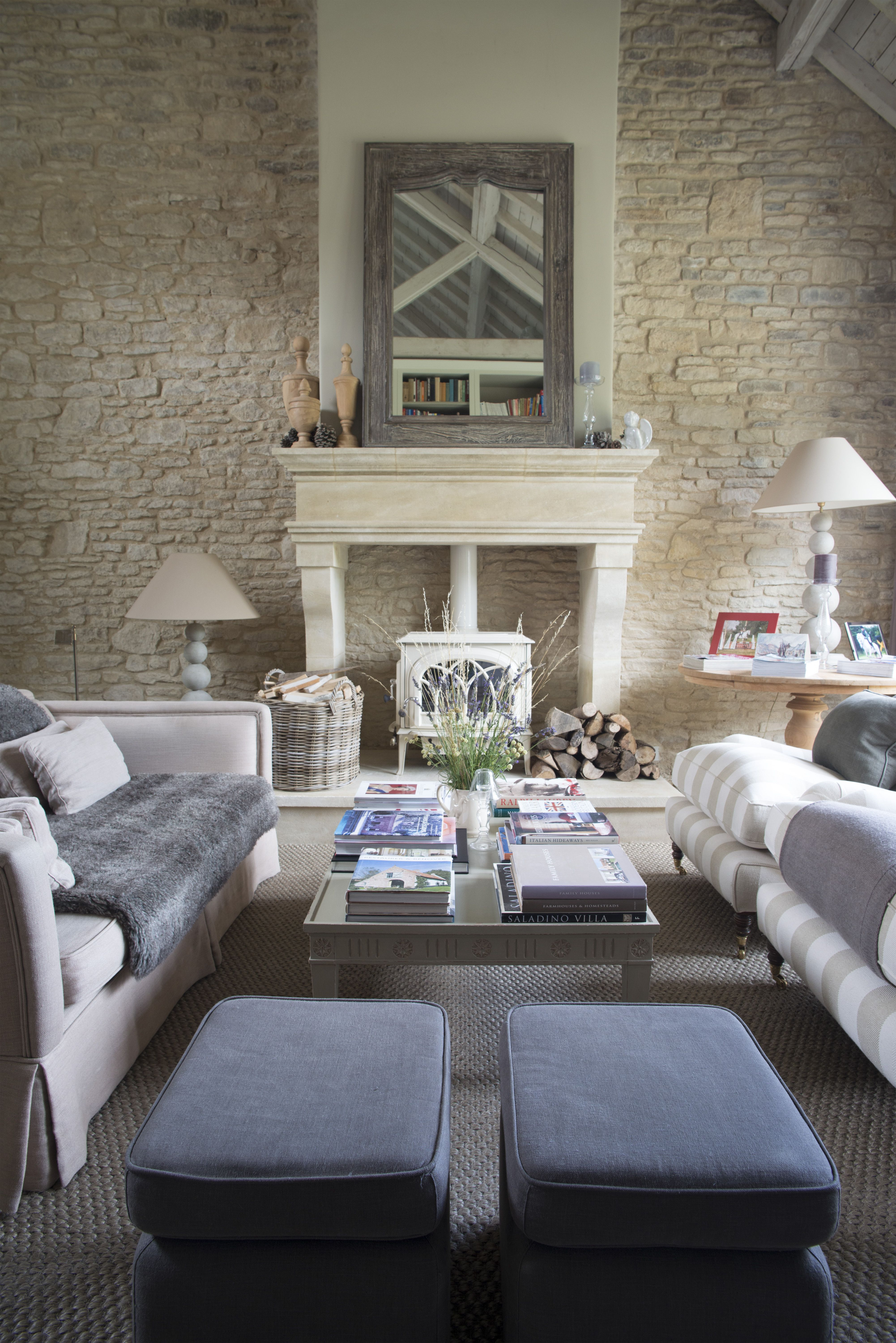 Sims Hilditch Converted Barn Sitting Room With Large