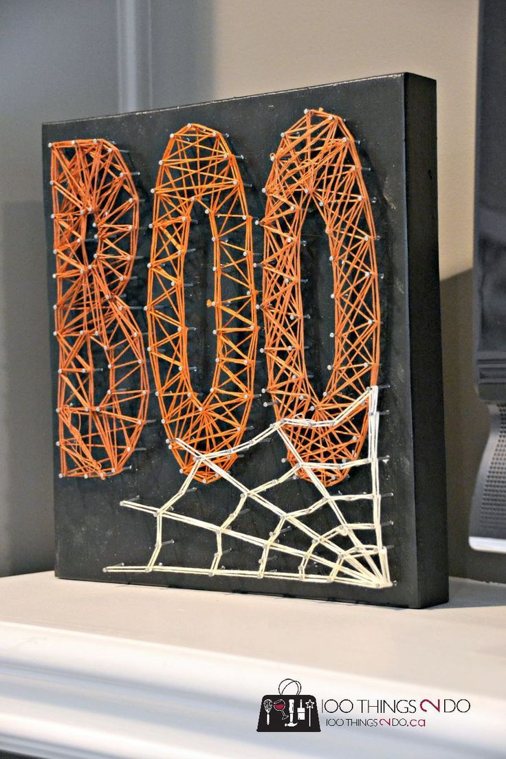 Creating String Art Pinterest Office decorations, String art and - halloween decorations for the office