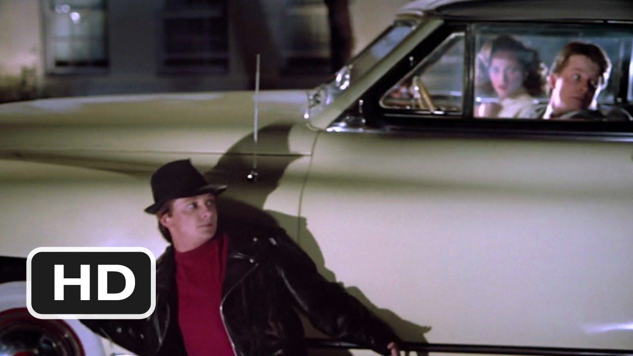 Back To The Future Part 2 10 12 Movie Clip Marty Sneaks Past