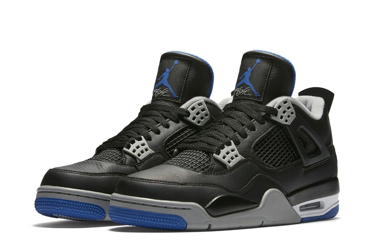 Air Jordan 4 Retro Black Game Royal Detailed Preview Pictures Eu Kicks Sneaker Magazine Air Jordans Retro Air Jordans Jordan 4 Black