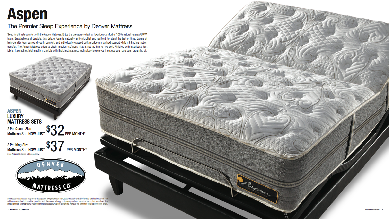 Sleep In Ultimate Comfort With The Aspen Luxury Mattress From