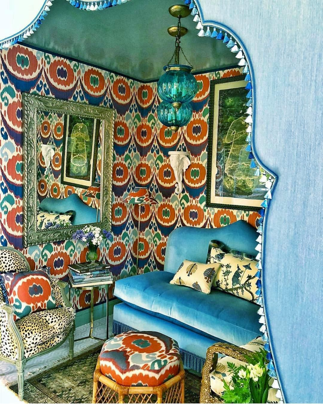 Bohemian Home Photo Via La Maison Pierre Frey On Instagram Amazing Room At Roomswithaviewsouthport By Pretty Room Bohemian Interior Design Bohemian House