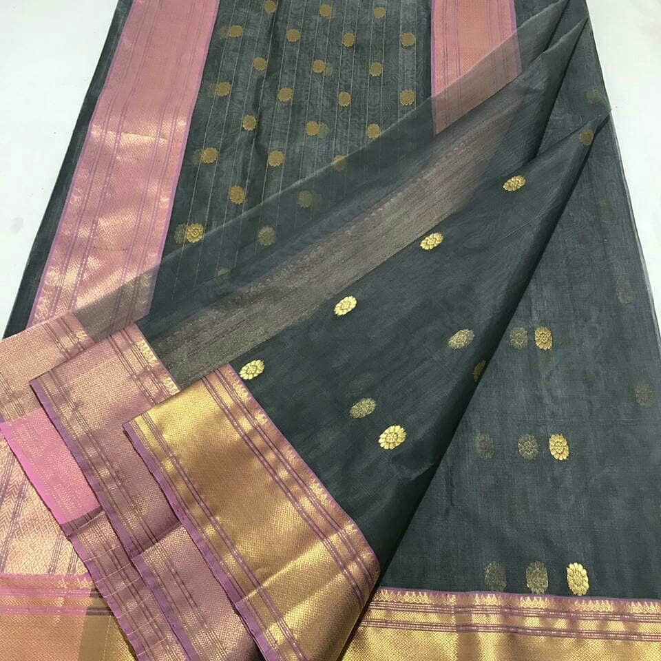 b07ec9a3eef 4+Years of delivering happiness globally. Authentio handwoven chanderi saree.  Directly shipped from