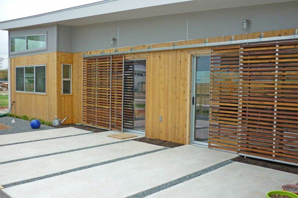 Gallery of sol the net zero community in austin texas for Exterior doors austin tx
