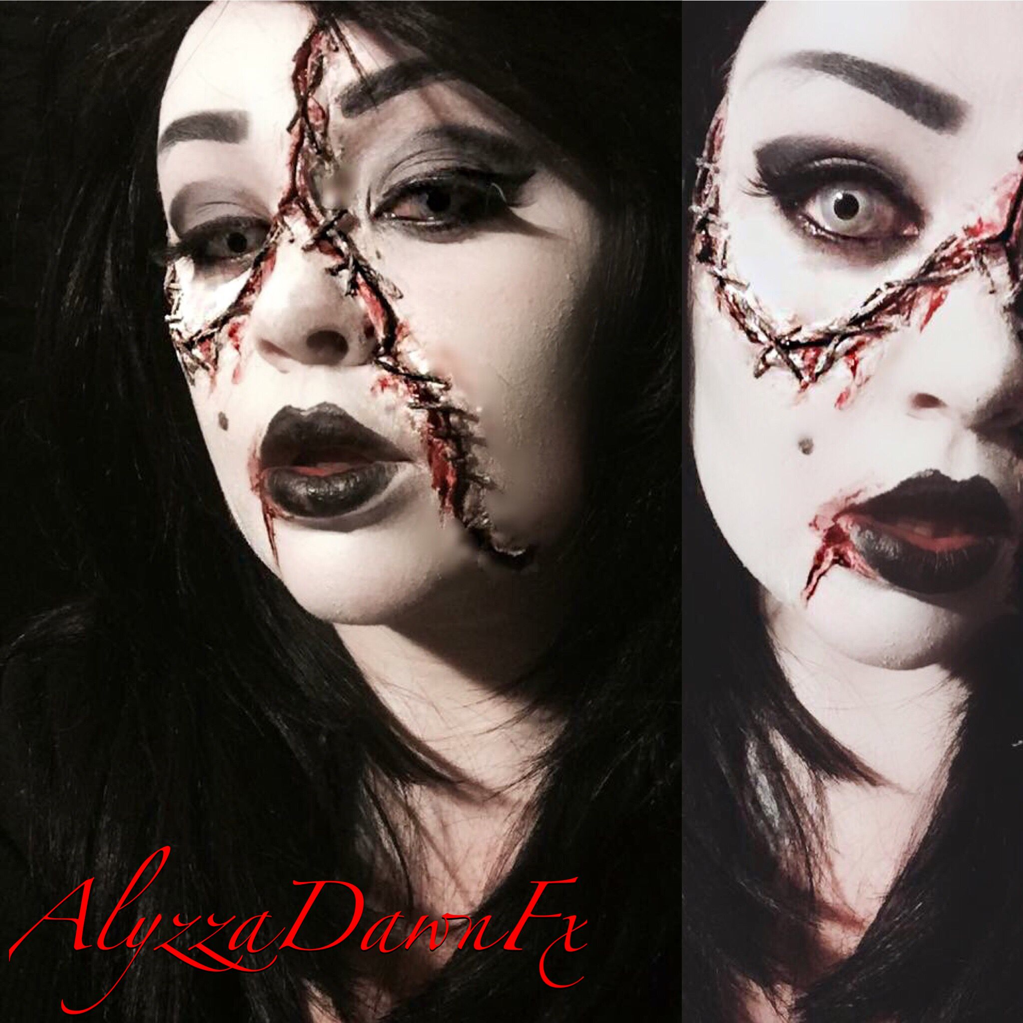living dead girl halloween makeup! #fxmakeup #sfxmakeup #facepaint