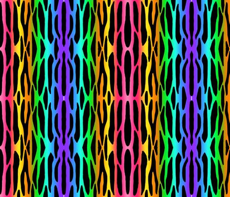 Rainbow Zebra Stripes Safari Jungle