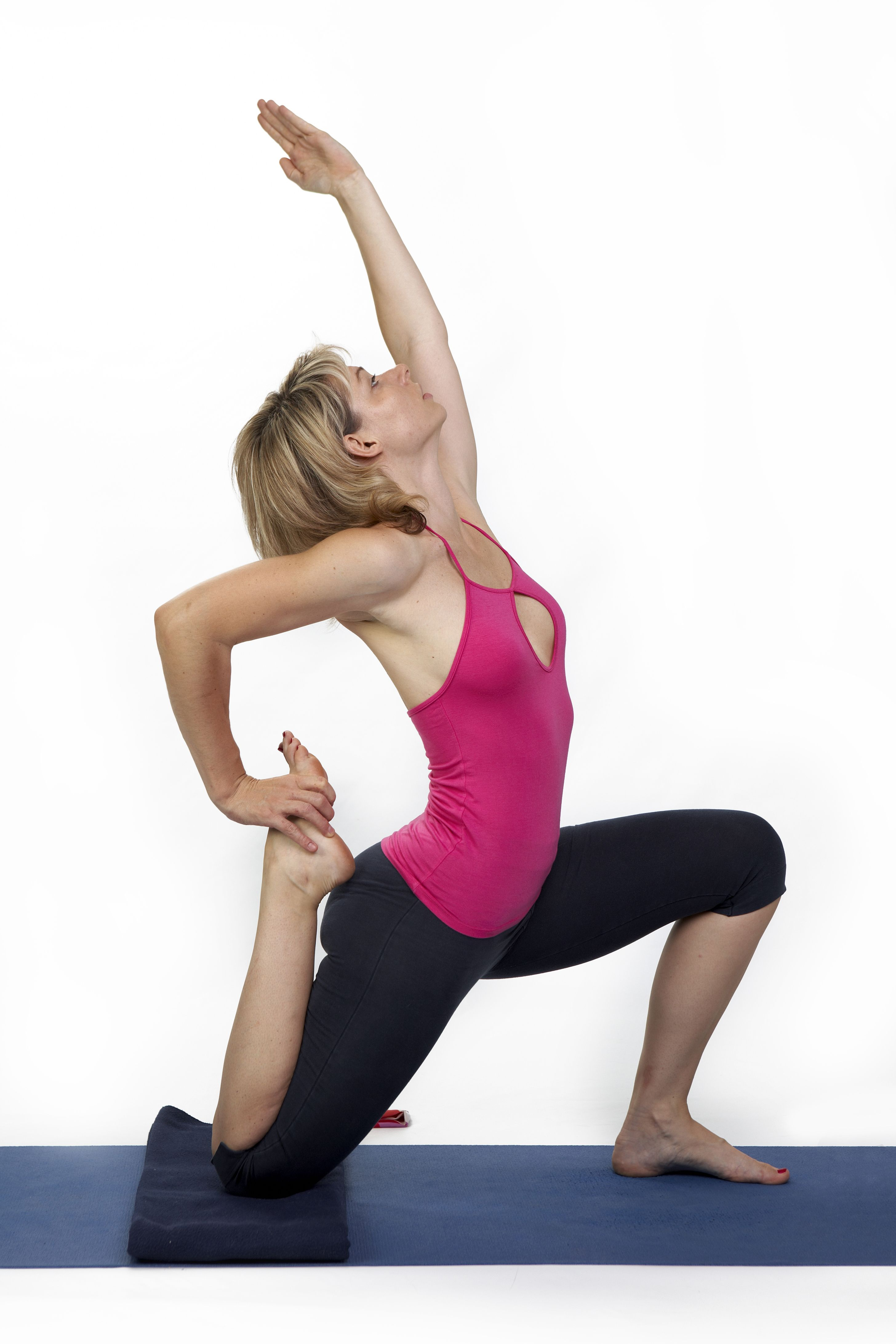 One-Legged King Pigeon Pose - stimulating your abdomen and all