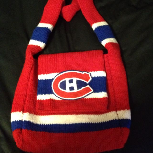 the latest 73169 d8254 My Montreal Canadiens bag that I knitted | crochet, knit and ...