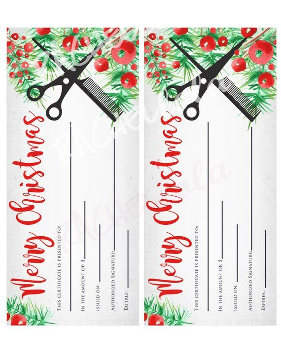 Certificate Templates: Hair Gift Certificate Template Free