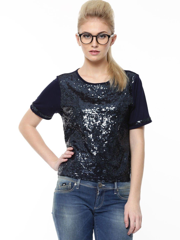 b8a676732 KOOVS Sequin Front Boxy Top In The Style Of Deepika Padukone - Buy Women's  Comfort Tops online in India | KOOVS