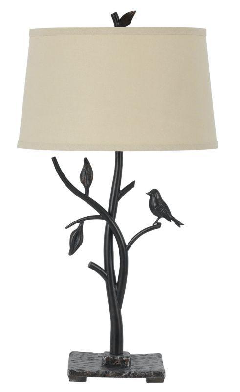 Cal Lighting Bo 2301tb Medora 1 Light Table Lamp With 3 Way Switch