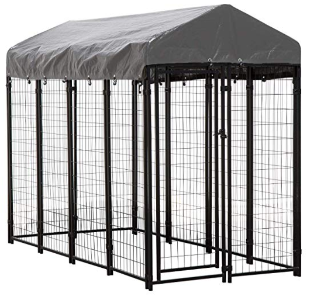 Dog Kennel Large Crate For Dogs 8 X 4 X 6 Ft Pet Cage Heavy Duty Playpen Outdoor Outside House Animal Run In 2020 Outside Dog Houses Outside Dogs Large Dog Crate