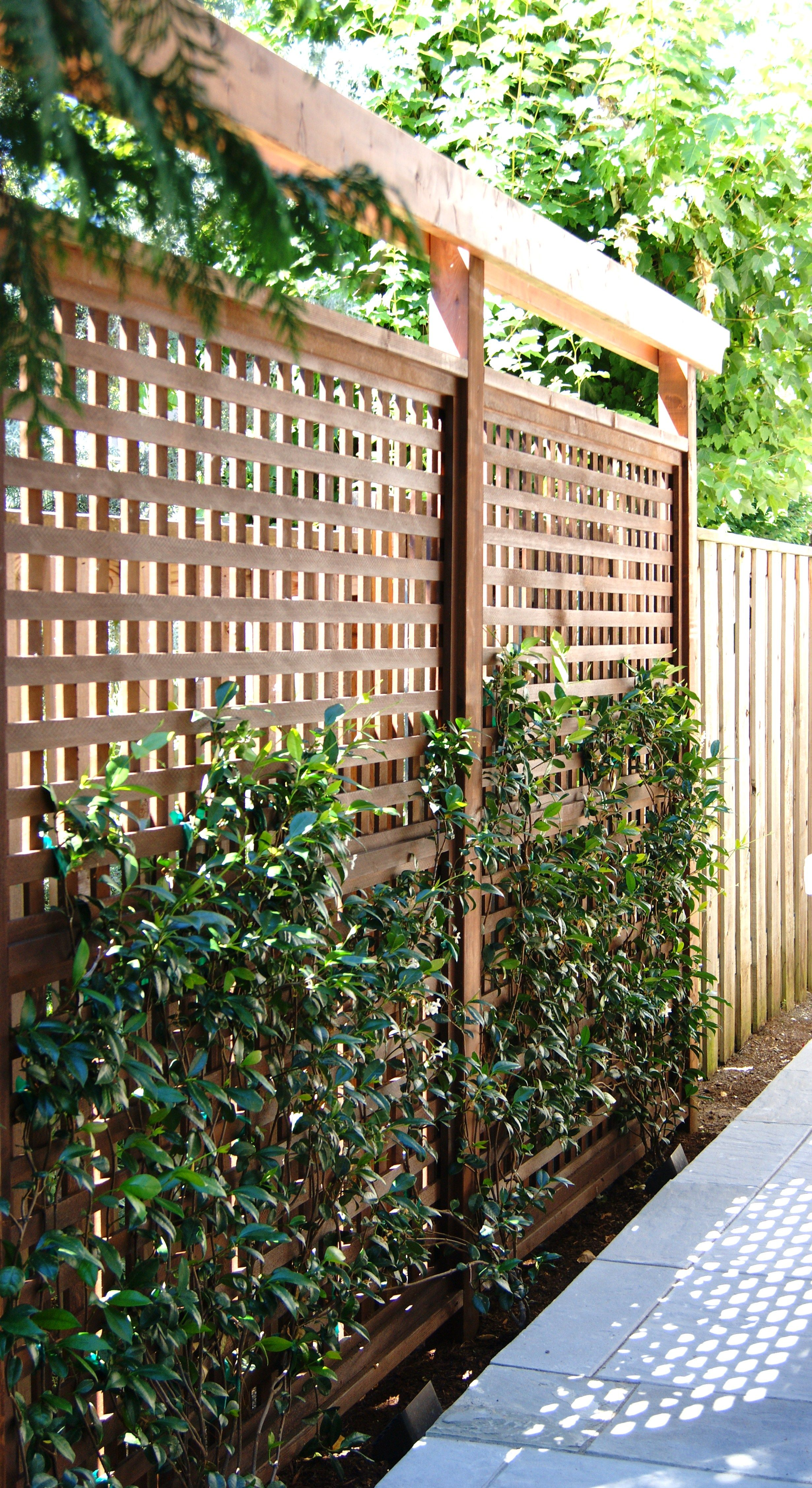 Another View Of Our Custom Made Privacy Screens Simple Yet Beautiful Www Prograss Com Privacy Landscaping Backyard Privacy Patio Garden Design