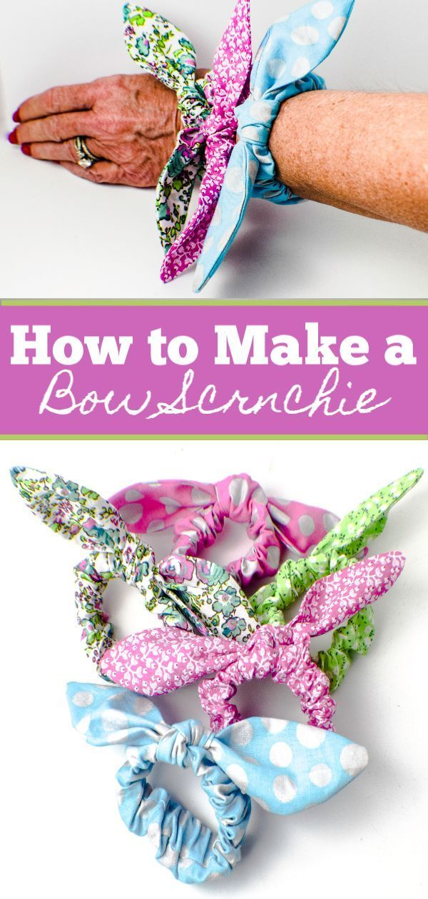 Photo of How to Make Bow Scrunchies – Claire C.