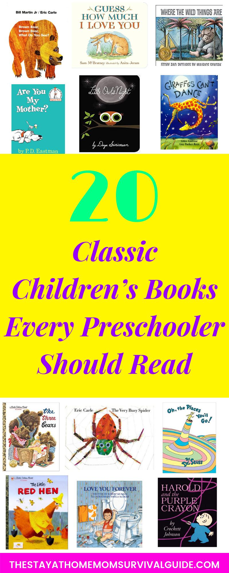 20 Classic Children's Books Every Preschooler Should Read
