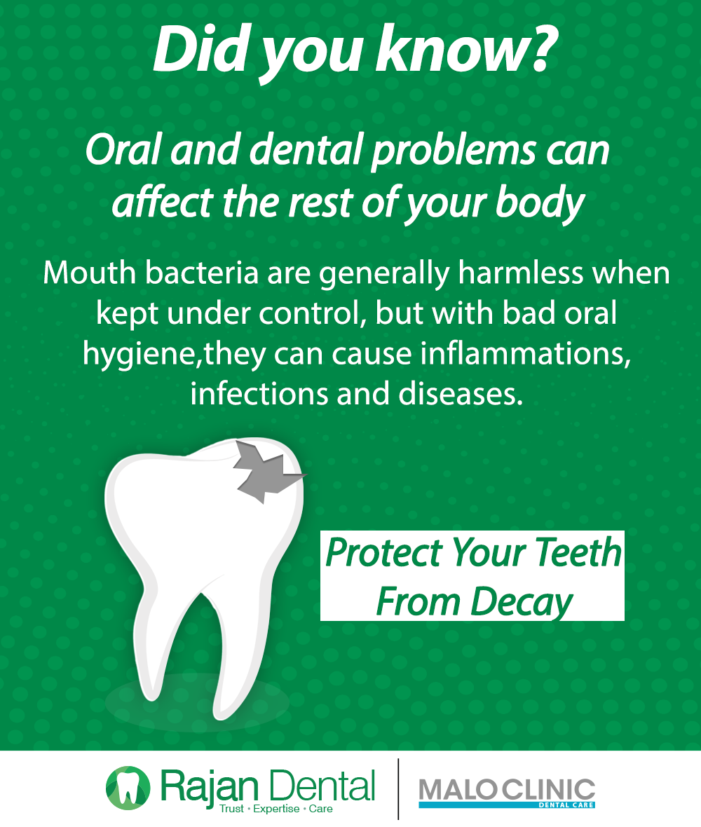 Did you know? Oral and dental problems can affect the rest