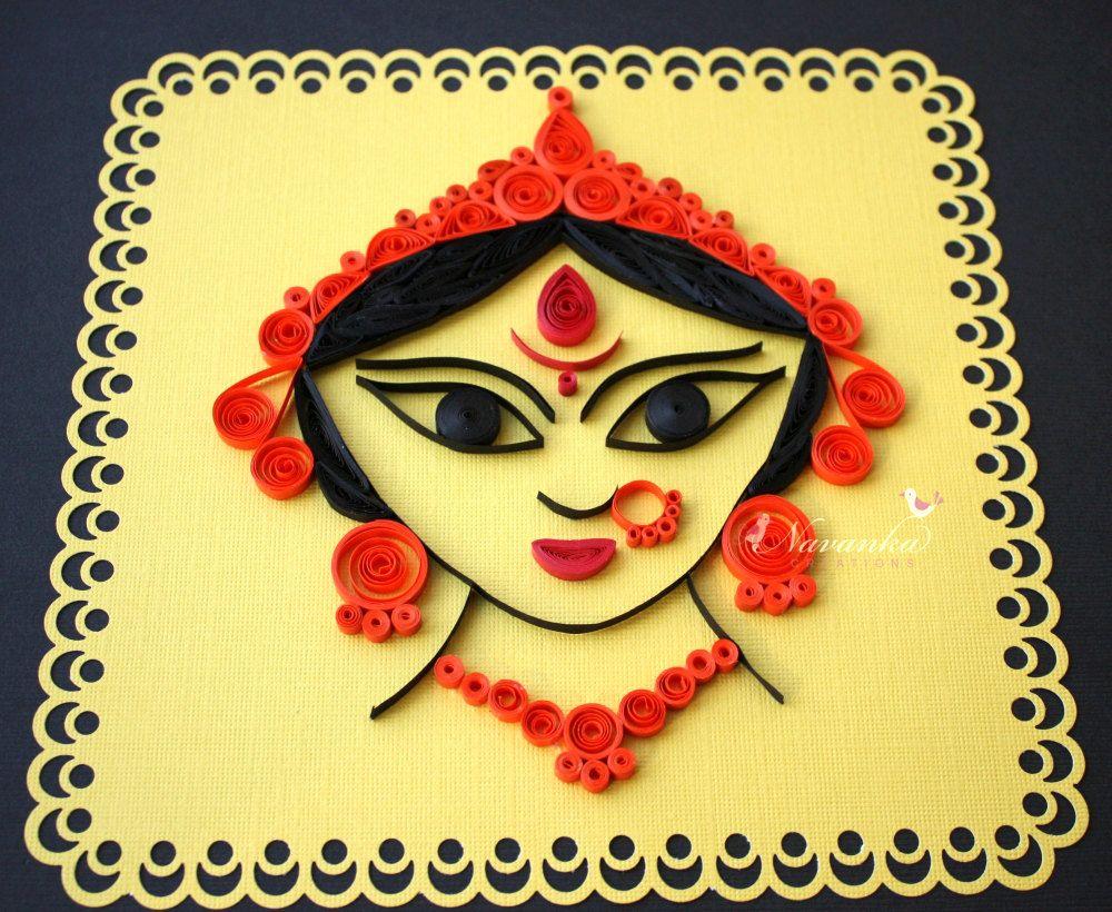 Indian Goddess Durga Paper Quilling Wall Art. $39.99, via Etsy ...