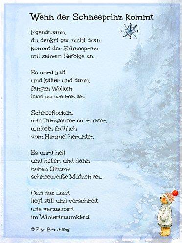 Wenn Der Schneeprinz Kommt Elkes Kindergeschichten Wintergedichte Fur Kinder Kindergeschichten Geschichten Fur Kinder