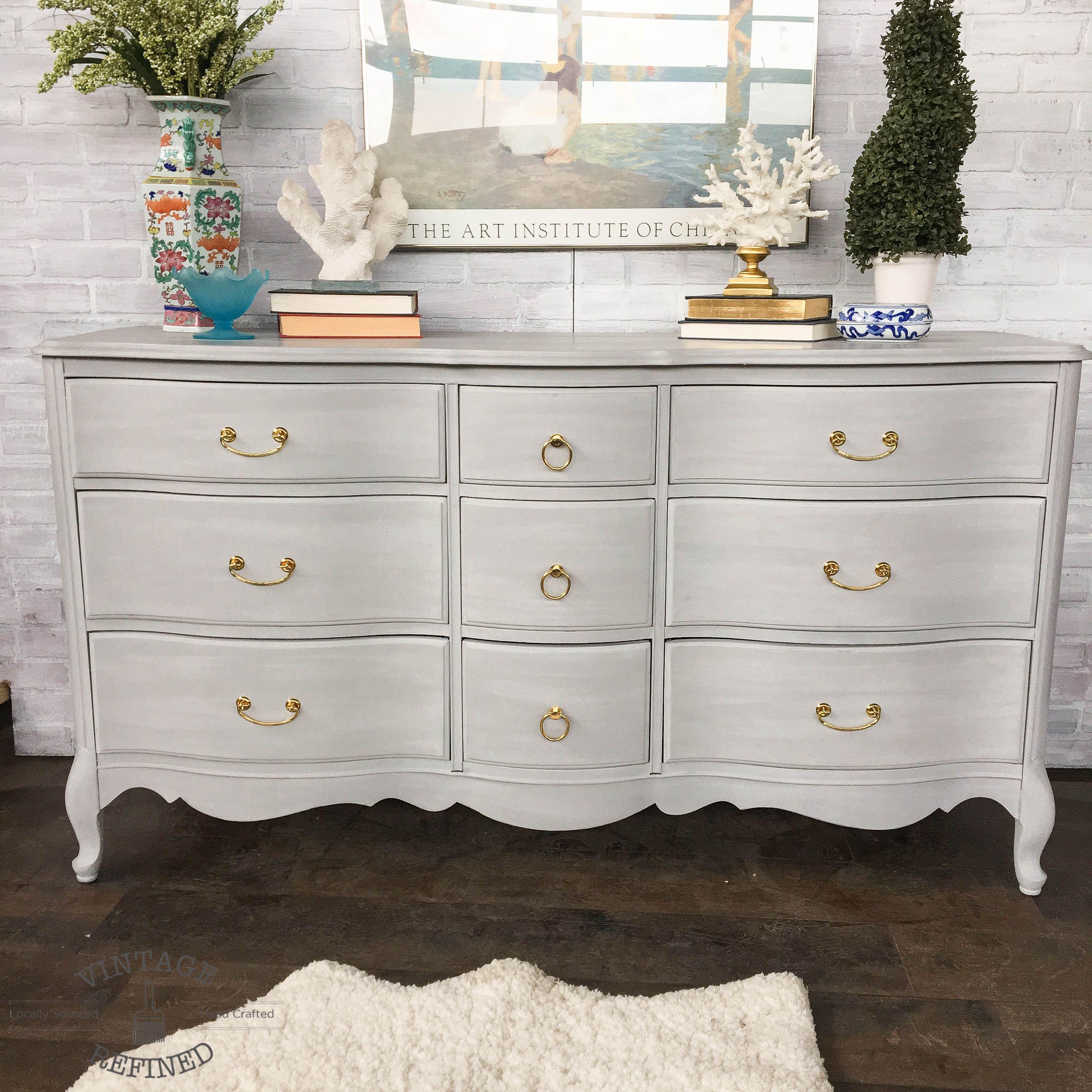 Paris Gray Chalk Paint Dresser: Chalk Paint - Annie Sloan ASCP, Milk Paint
