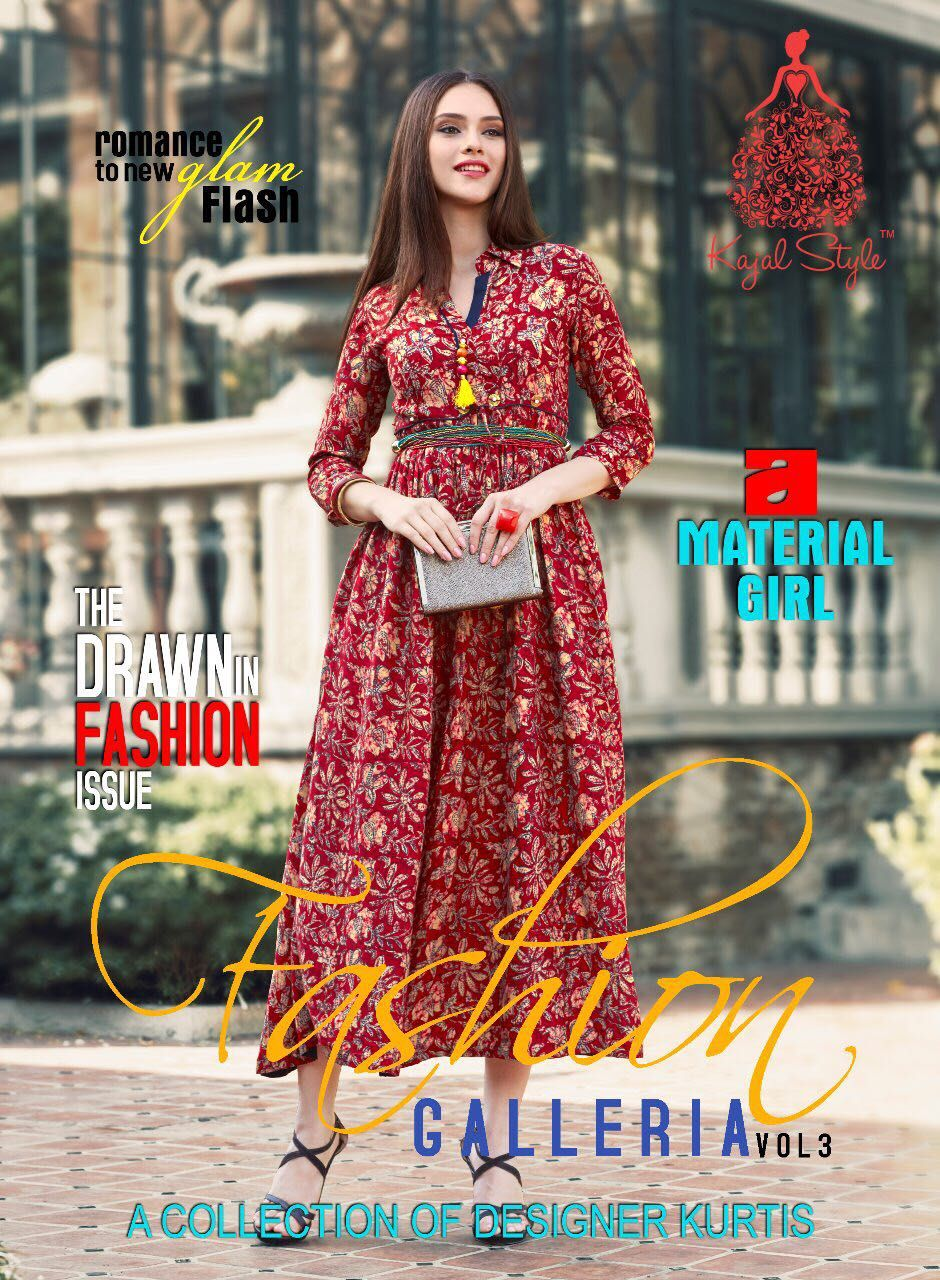 748a87af6 kajal Style Fashion Galleria vol32 Kurtis (8 pc catalog)