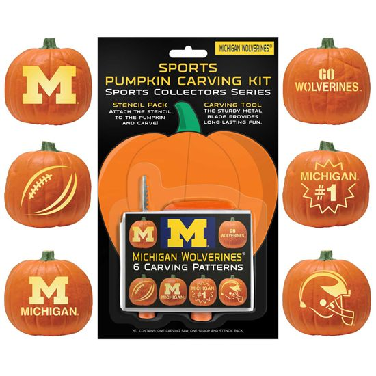 u of m pumpkin templates  University of Michigan Pumpkin Carving Kit. Includes 7 ...