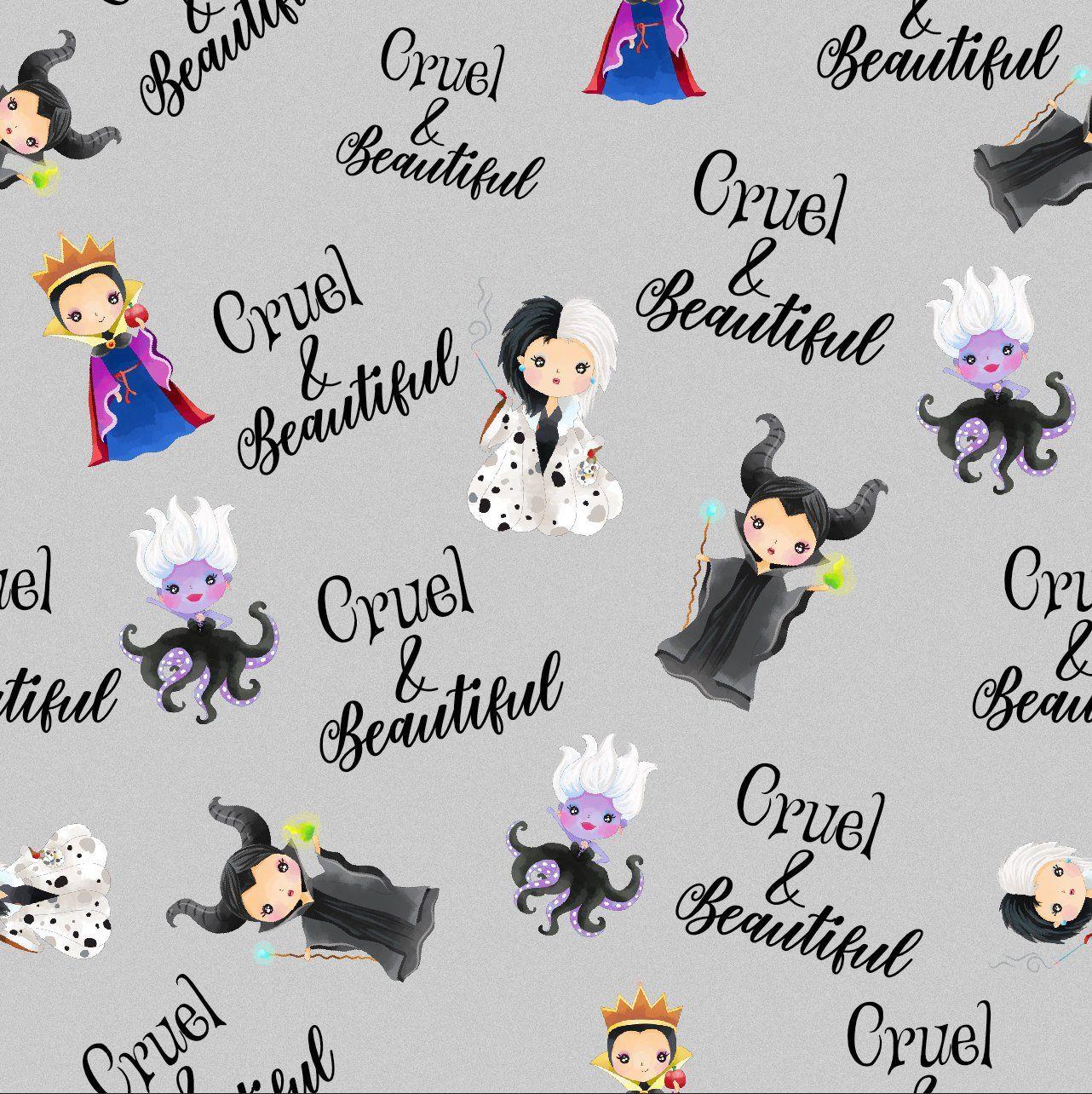Disney Villain Schooled in Cruel 100/% Cotton Licenced fabric *per fat quarter*
