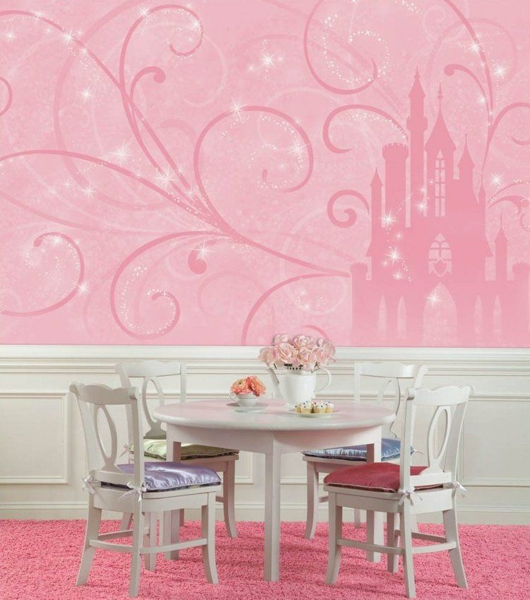 Fototapete Im Kinderzimmer 30 Wandgestaltung Ideen Disney Prinzessin Schloss Wandgestaltung Und Wandgestaltung Ideen