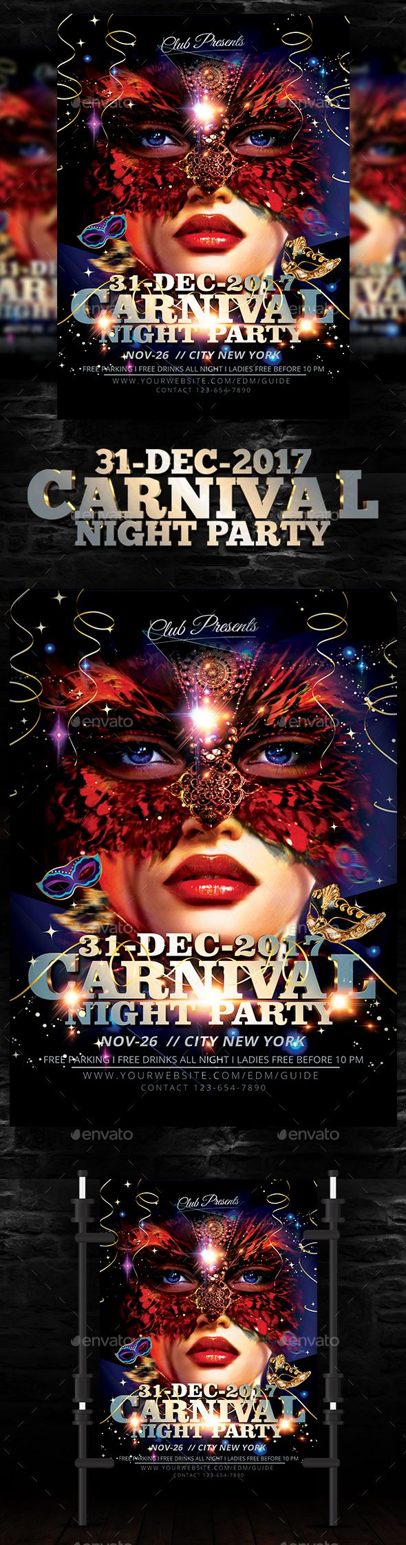 carnival flyer pinterest carnival flyer template and template