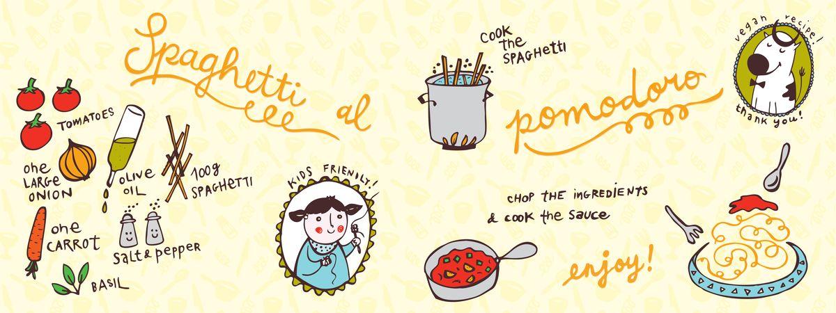 Spaghetti al Pomodoro by  Serena Veslemøy