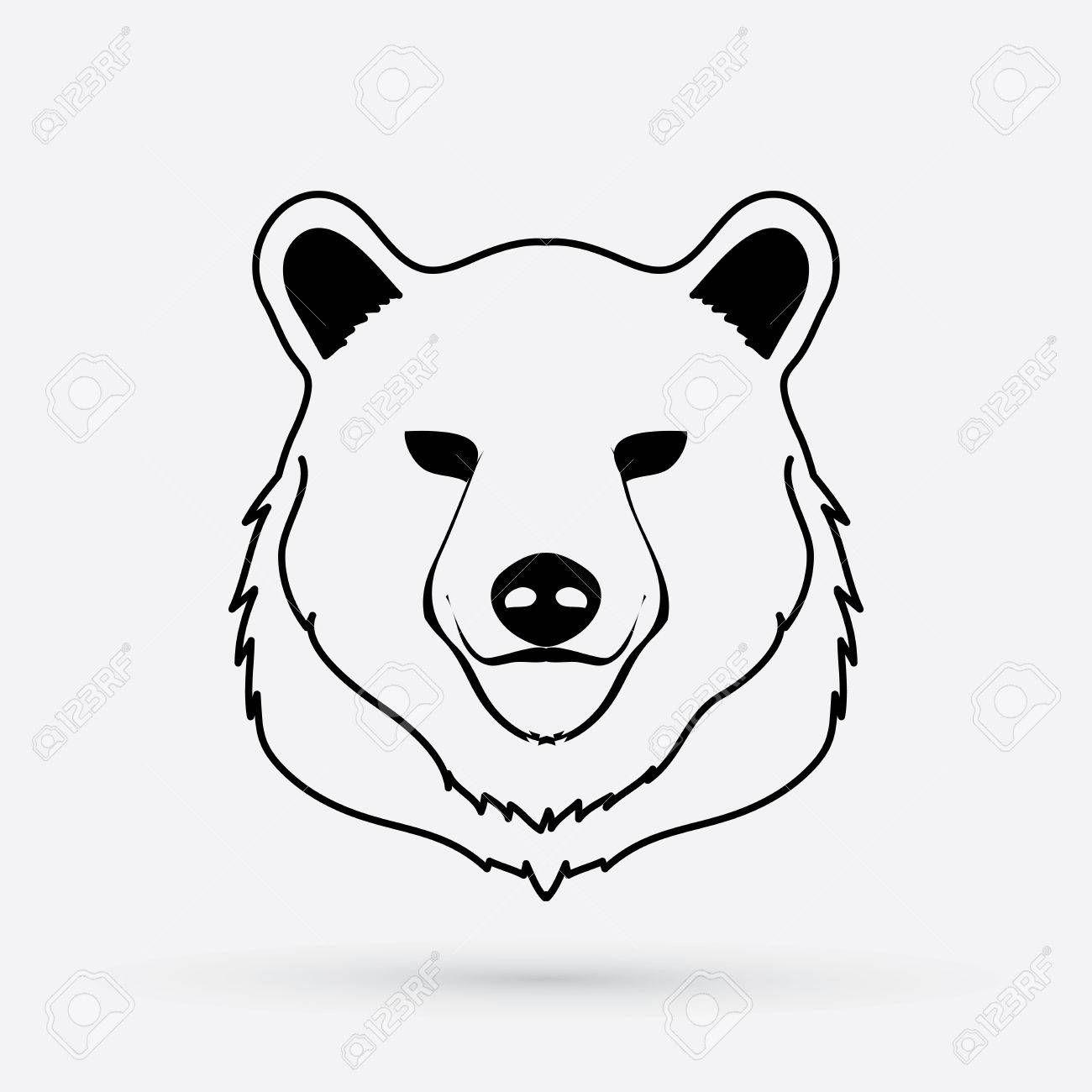 Outline Of A Bear Head