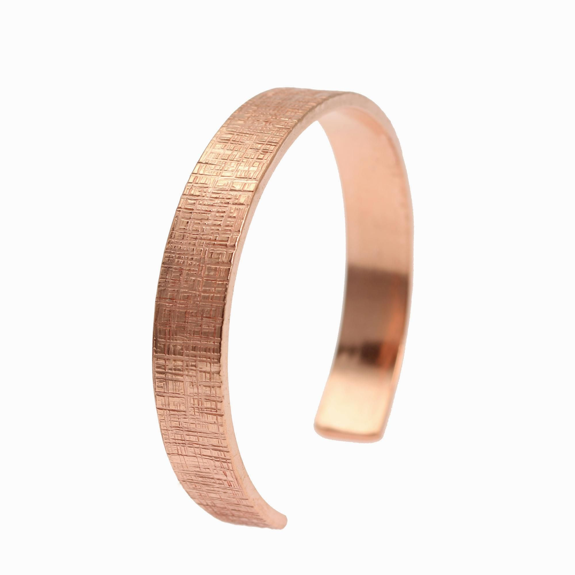 43% OFF! Amazing 10mm Wide Linen Rose Gold Tone Cuff Bracelet Shown by #AmazonPrime #Copper http://www.amazon.com/dp/B01AMSY7OY