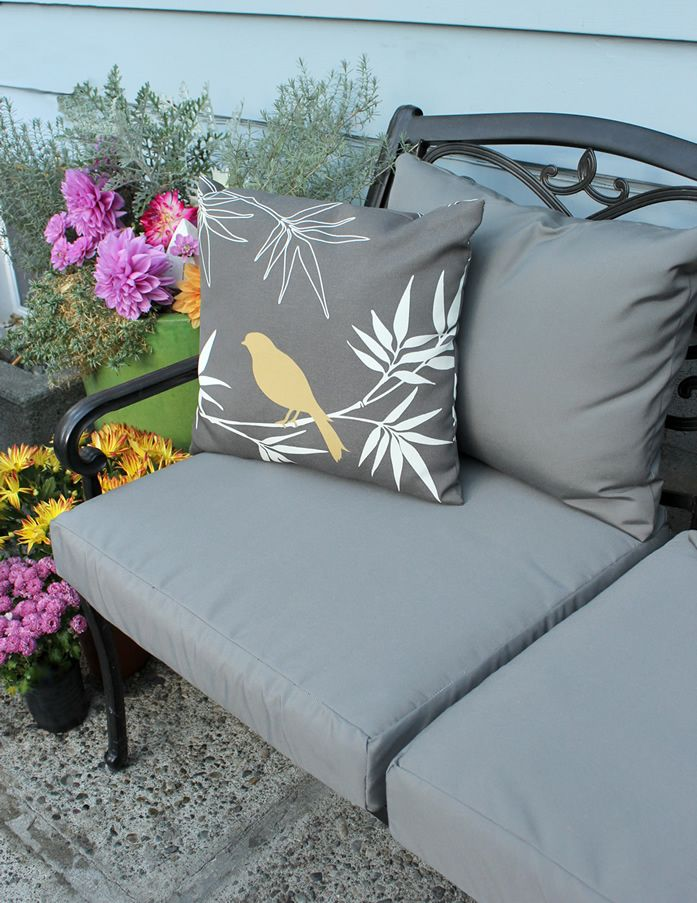 Outdoor Furniture Near Your Hot Tub Is A Perfect Addition To Your Space.  Learn How To Easily Recover Faded Or Worn Furniture Cushions.