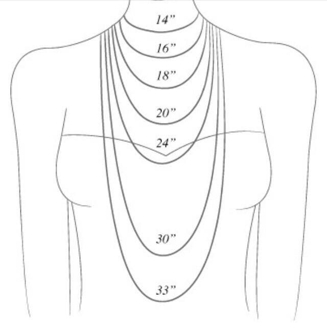 necklace length chart | Helpful hints | Pinterest | Necklace ...