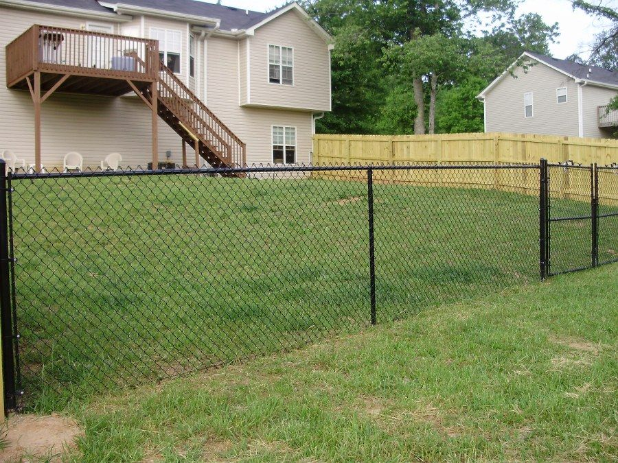 combination wood and chain link fence - Google Search