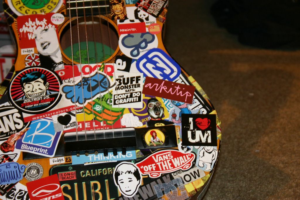 Cool Stickers Random Proclamation I Can T Seem To Put Stickers On My Guitar Cases Ukulele Art Guitar Stickers Music Stickers