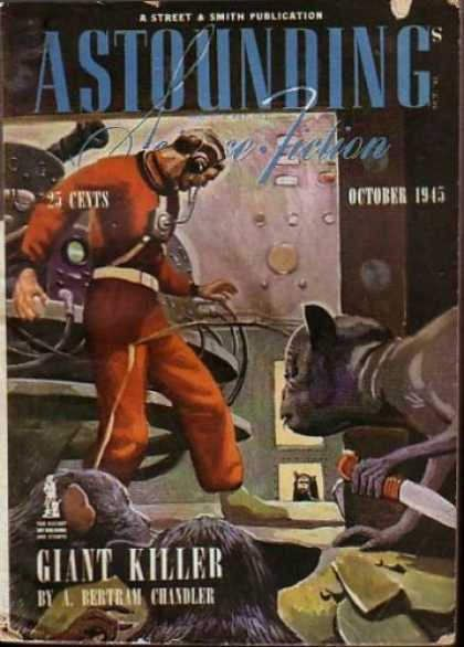 Astounding Science Fiction - Vintage Illustrated Artwork Book Cover