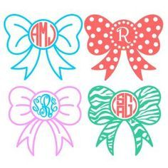 Download Bows Monogram Bow Svg Cuttable Designs Works With ...