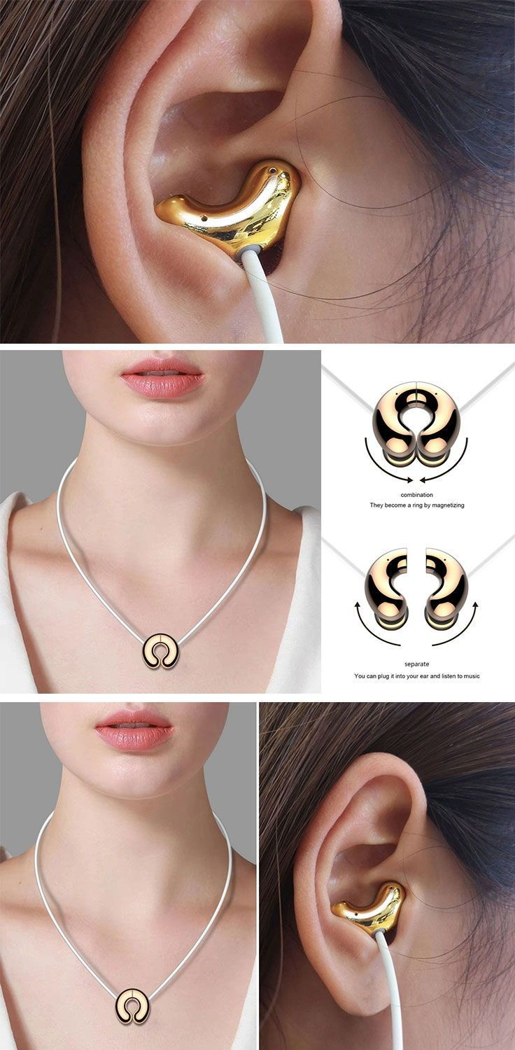 Earphones that magnetically hang like a necklace for the ultimate tech-fashion statement | Yanko Des