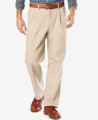 f6b826bfe25 Dockers® Men s Stretch Relaxed Fit Signature Khaki Pants Pleated D4