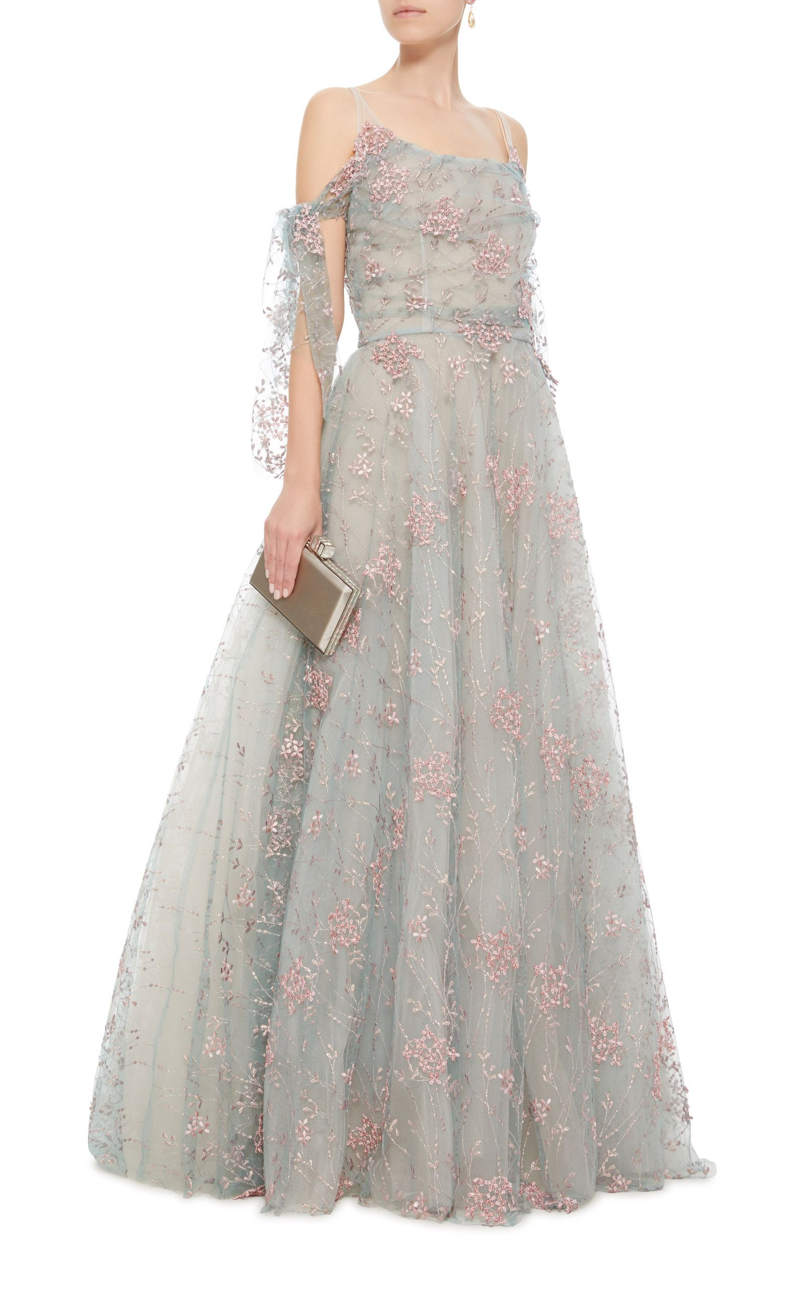 0a5c7eb850 Tulle Embroidered Floral Ball Gown   Gowns   Dresses, Gowns, Luisa ...