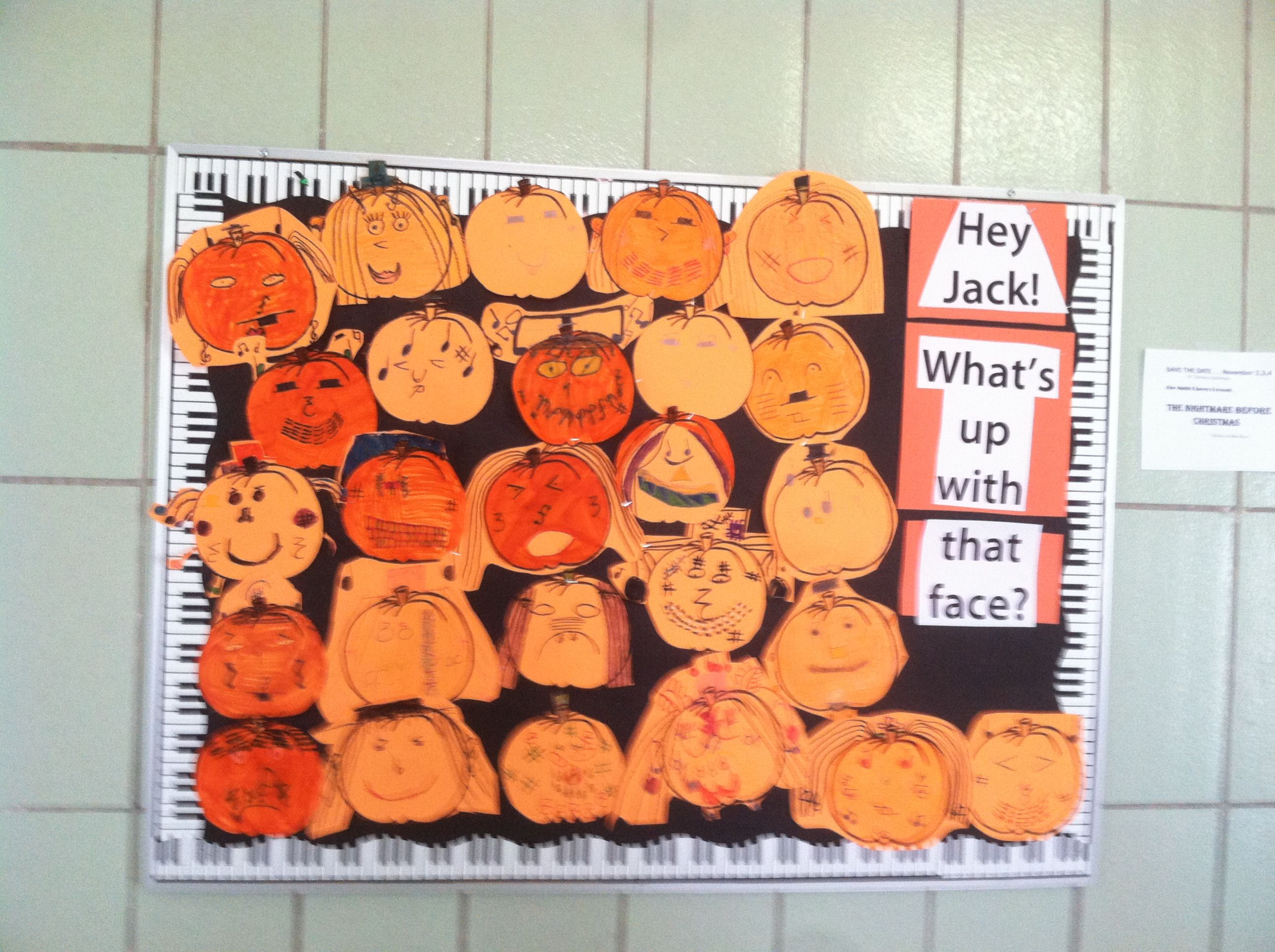 My 3rd Graders Made Jack I Lanterns With Faces Made Of Musical