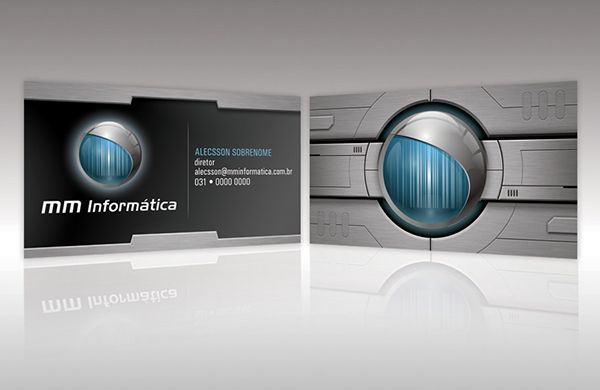 Eye Catching D Business Card Template With Brush Metal Look - 3d business card template